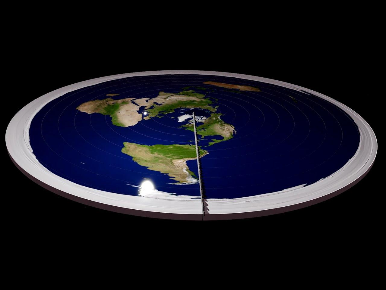 Макет земли плоский