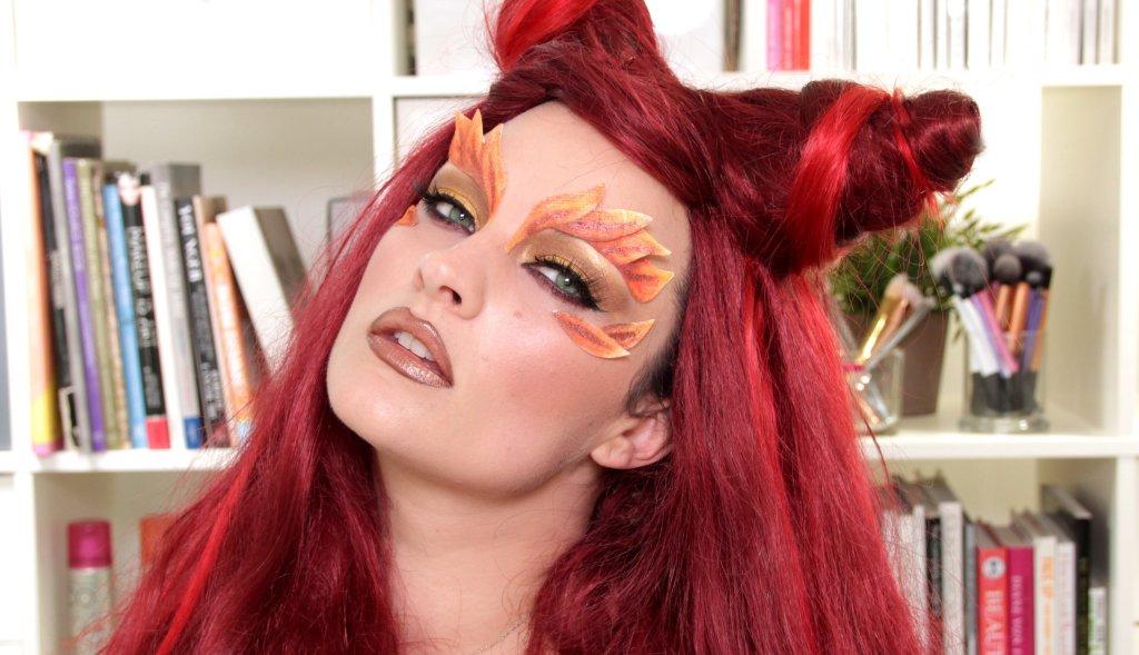 Poison Ivy Halloween Makeup Amp Hair Tutorial Inthefame