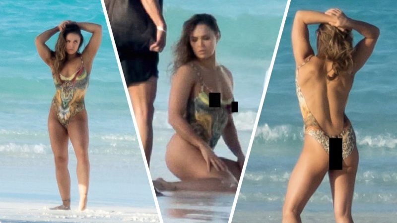 Ronda rousey back in body paint inthefame