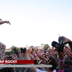 ASAP Rocky crashes the stage at Fool's Gold LA
