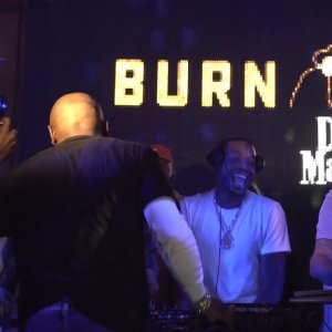 Meek Mill DJs at Floyd Mayweather's party