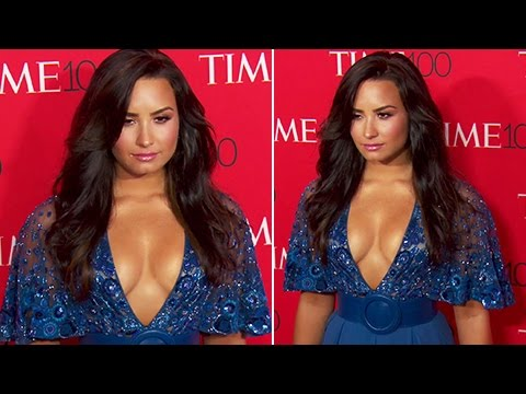 Demi Lovato Flaunts Serious Cleavage At The Time 100 Gala 2017