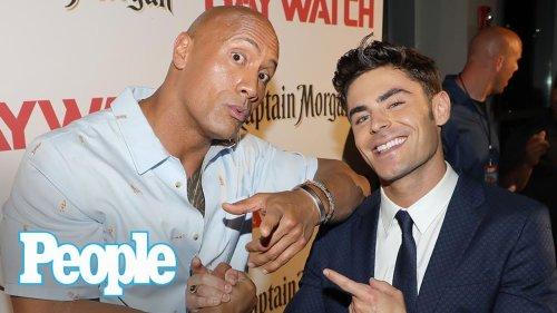Dwayne Johnson Vs. Zac Efron: Baywatch's Ilfenesh Hadera & Kelly Rohrbach Talk | People NOW | People