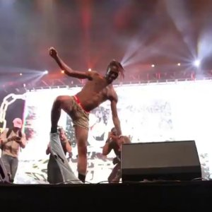 Famous Dex strips down to his boxers at Rolling Loud So Cal