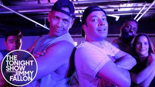 Alex Rodriguez and Jimmy Crash a Hip-Hop Dance Class